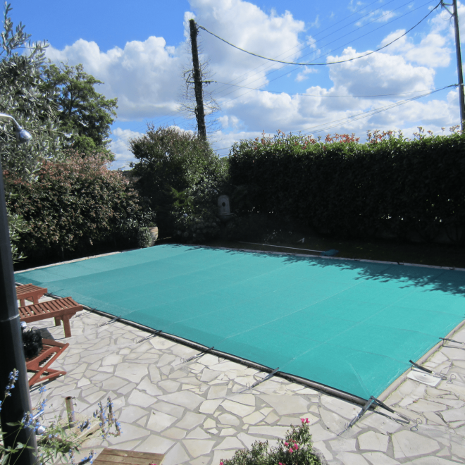 Couverture de s curit filet barres piscines tradition for Constructeur piscine pau